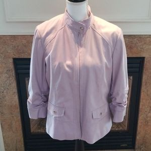 CHICO'S LILAC PEBBLED JACKET NWT 2 (12/14)